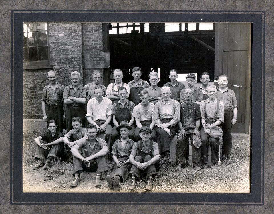 Picture 7: Employees at McClary's Manufacturing, c. 1920s. Malcolm could be in this picture, or these could be his co-workers.